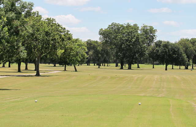 A view from a tee at Blue from Riverside Golf Course.