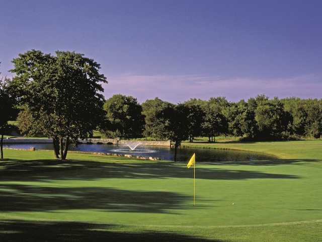 A view of a green at The Old from White Bluff Golf Club