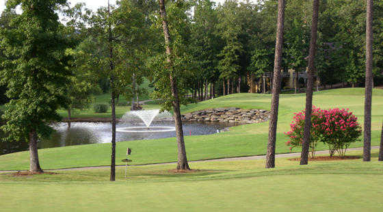 A view of the 4th hole at Diamante Golf Course.