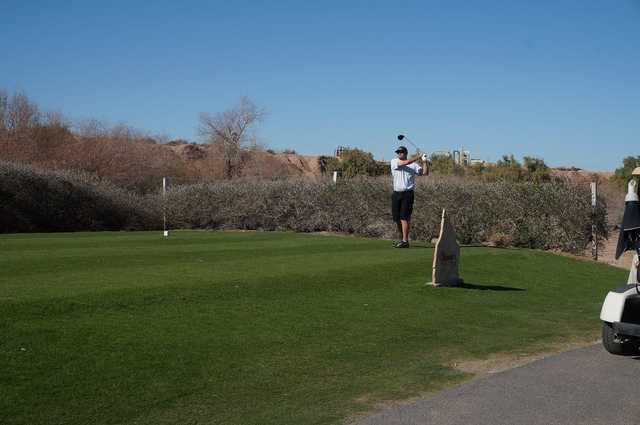 A view of a tee at Del Rio Country Club.