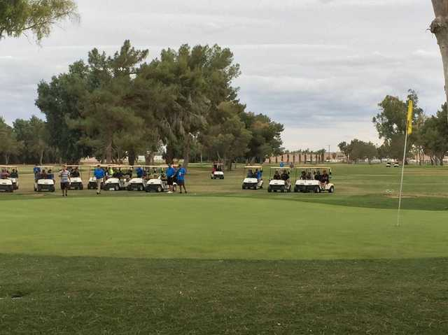 A view of a green at Del Rio Country Club.