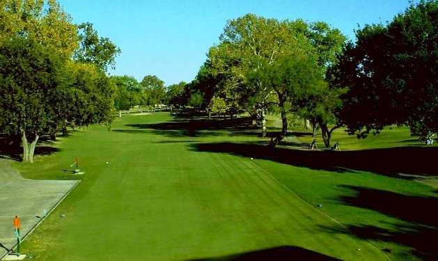 A view from the 1st tee at Windcrest Golf Club