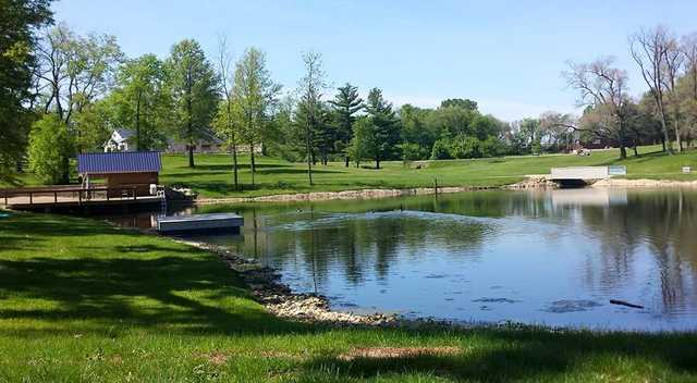 A view over a pond at Stagecoach Golf Course.