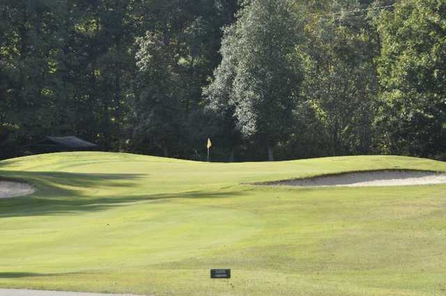 A view of the 13th green at Legacy Pines Golf Club