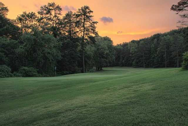 A view of hole #16 at Legacy Pines Golf Club