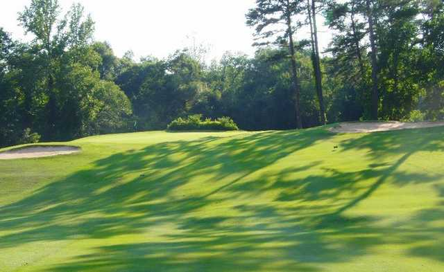 A view of the 1st green at Legacy Pines Golf Club