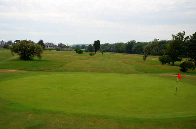 A view of green #10 at Hythe Golf Club.