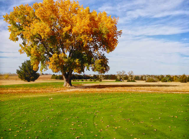 A fall day view from Enders Lake Golf Course (Wauneta).