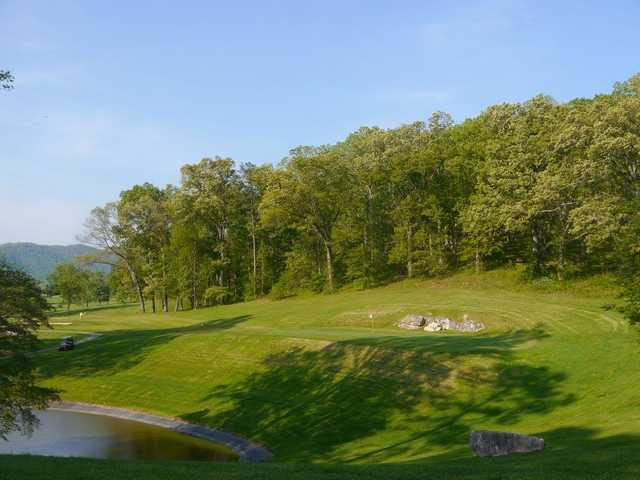 A view of a hole at LaFollette Country Club.