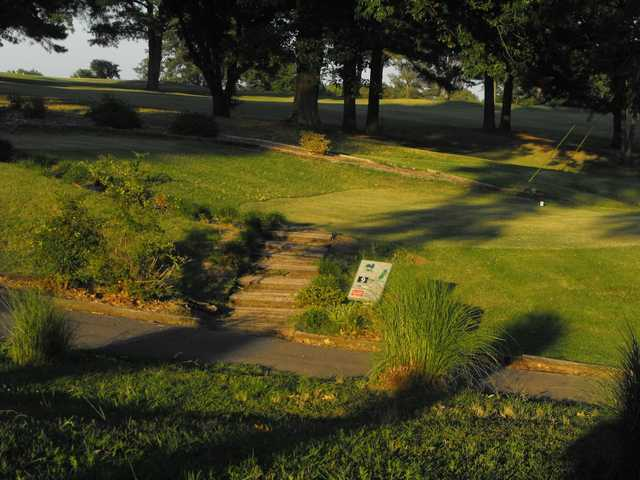 A view of the 9th tee at Persimmon Hills Golf Course.