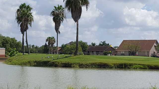 A view of a green at Brownsville Golf Center