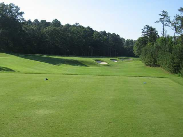 A view of the 17th green from tee at UNC Finley Golf Course