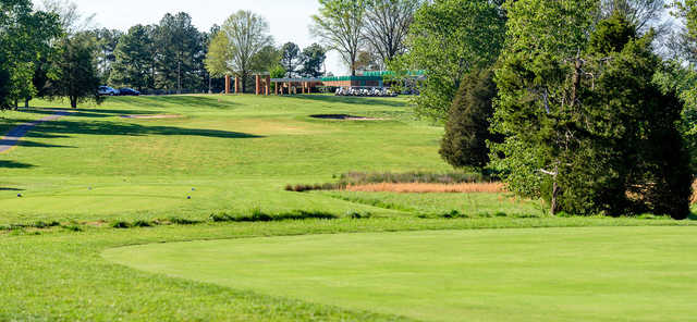 A view from a tee at Farmville Golf Course.