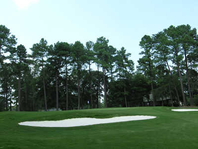 A view of the1st hole protected by bunkers at Westport Golf Course
