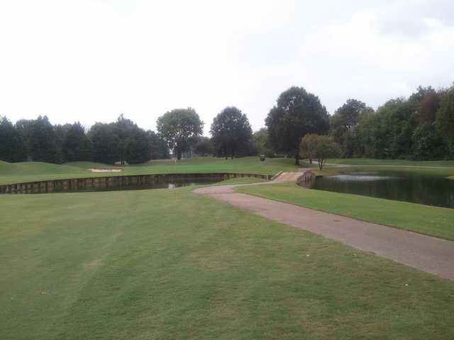 A view of hole #6 at Cypress Lakes Golf & Country Club.