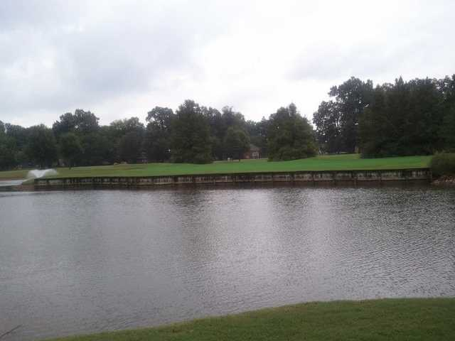 A view of the 7th hole at Cypress Lakes Golf & Country Club.