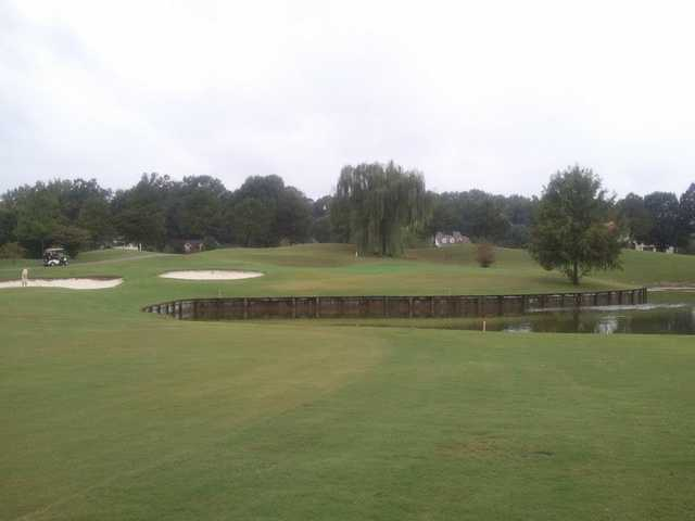 A view of the 10th green at Cypress Lakes Golf & Country Club.