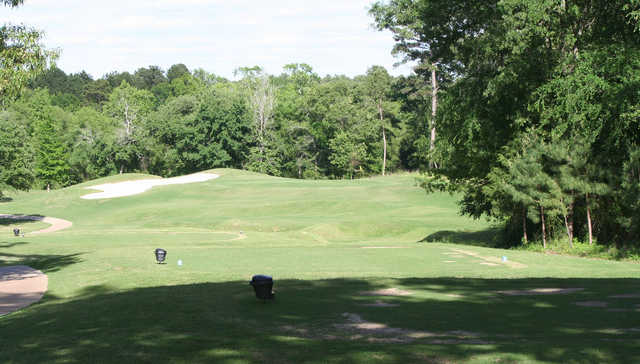 A view from tee #2 at Eagle's Bluff Country Club.