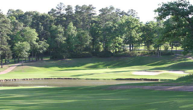 A view of the 8th hole at Eagle's Bluff Country Club.