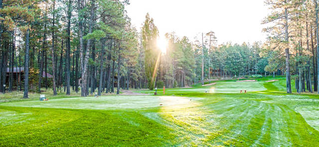 A view of a tee at Pinetop Country Club.