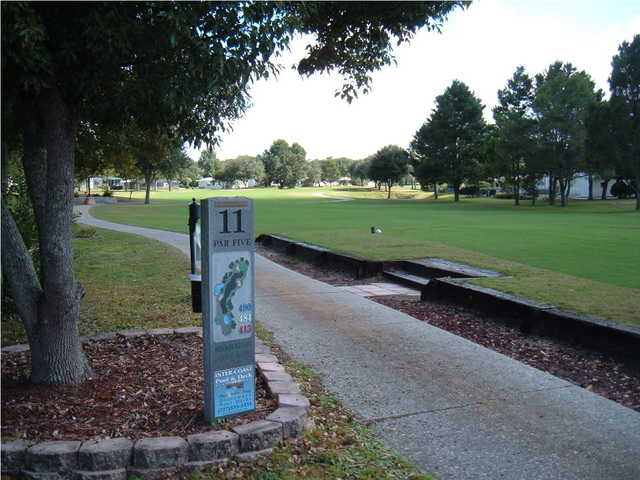 A view of tee #11 sign at Brookridge Golf & Country Club.