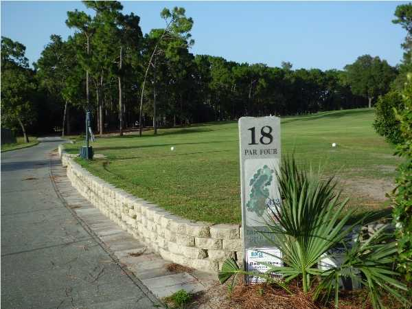 A view of the 18th tee at Brookridge Golf & Country Club.