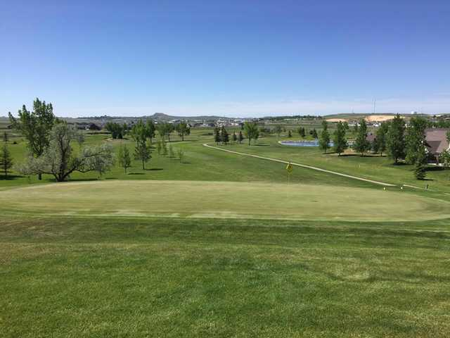 A view of a green at Gillette Golf Club.