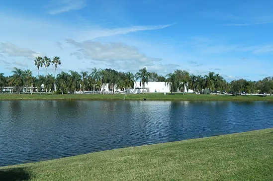 A view over the water from Spanish Lakes Country Club.