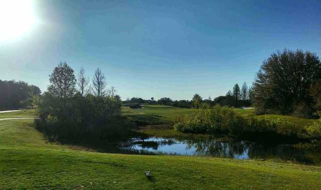 A view of fairway #2 at The Lakes Golf Club
