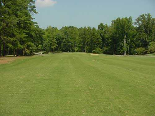 A view of the 1st green at King's Mountain Country Club