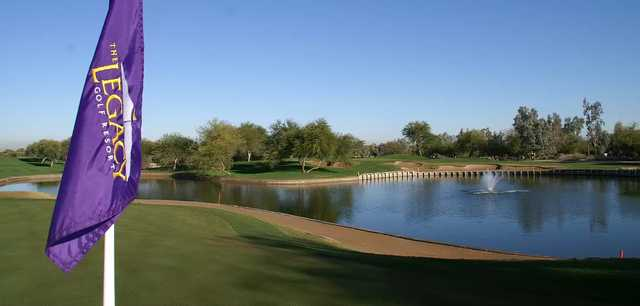 View of the 15th hole from the 14th green at The Legacy Golf Club