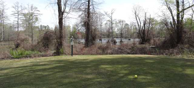 A view of a tee at Boeuf River Country Club.