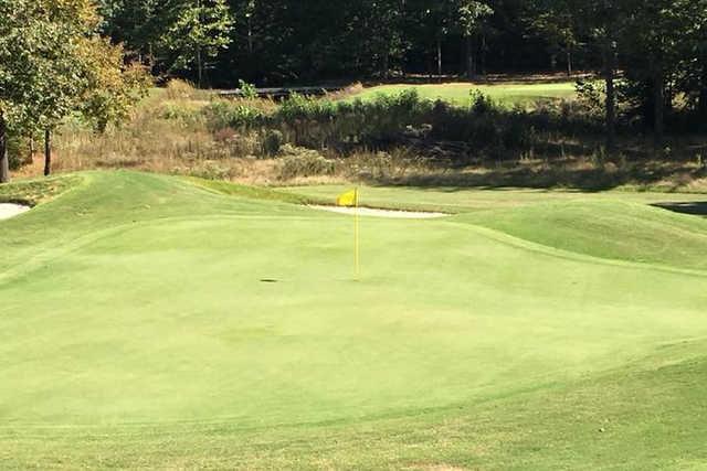 A view of a green from The Ridges at Village Creek.