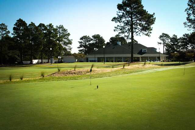 View from the practice green at Longleaf Golf & Family Club
