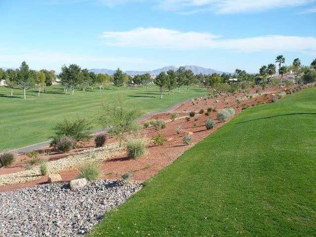A view of a fairway at Los Prados Golf Course.