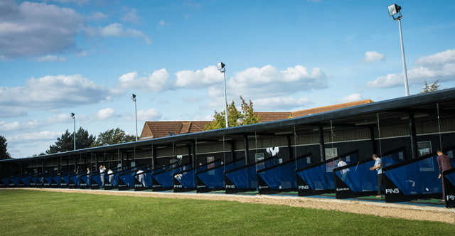 A view of the driving range at Horton Park Golf Club.