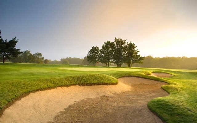 A view of the 10th green at Bath Golf Club.