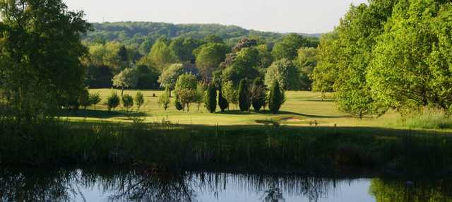 A view over the water from Ifield Golf Club.