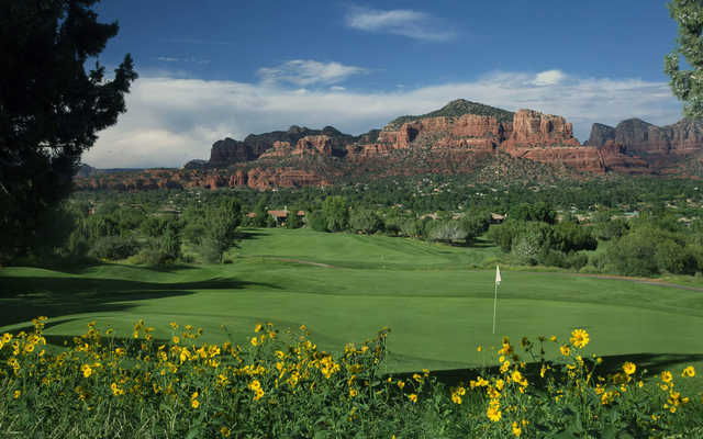 Looking back from the 6th green from Sedona Golf Resort