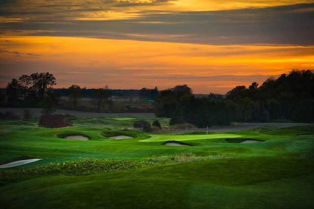 A sunset view from Tarandowah Golfers Club.