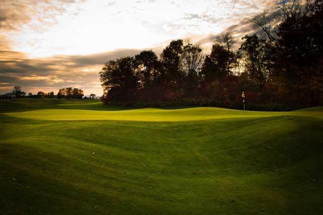 A view of a green at Tarandowah Golfers Club.