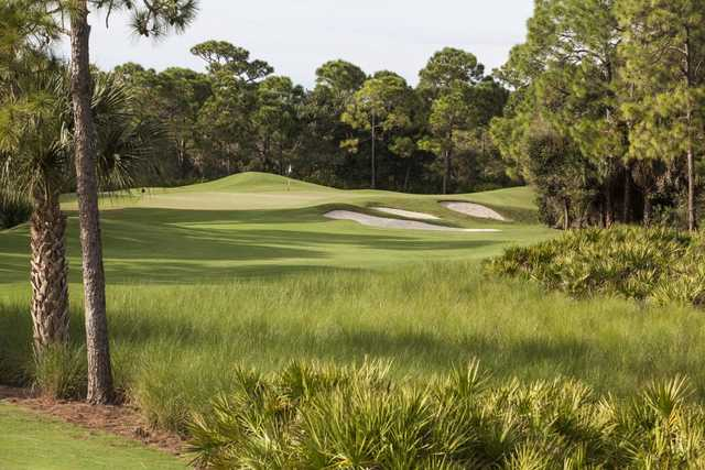 A view of a green at Bay Colony Golf Club.