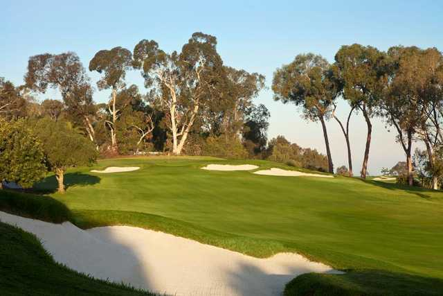 A view of the 1st hole at Palos Verdes Golf Club.