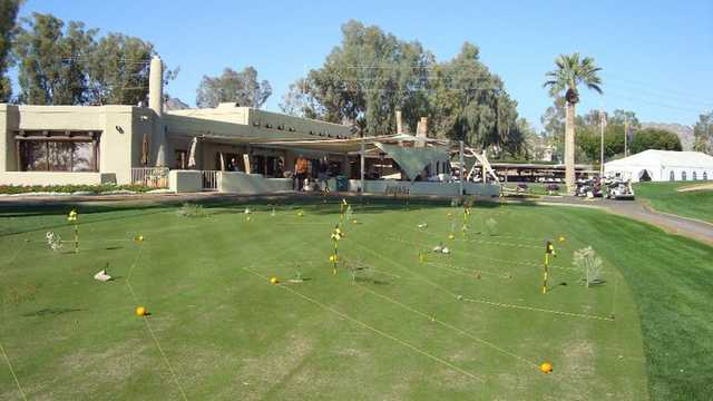 A view of the practice area at Arizona Biltmore Golf Club