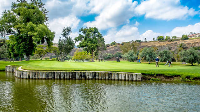 A view of hole #4 from Oak Glen from Singing Hills Golf Resort at Sycuan.