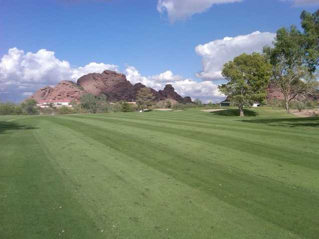 A view of the 18th hole at Papago Golf Course