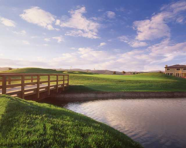 A view of the 16th hole at Arrowood Golf Course.