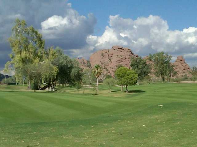 A view of green #7 at Papago Golf Course