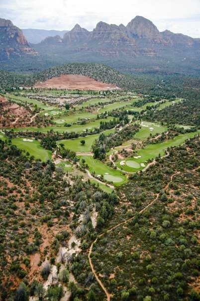 Aerial view from Seven Canyons Golf Club.