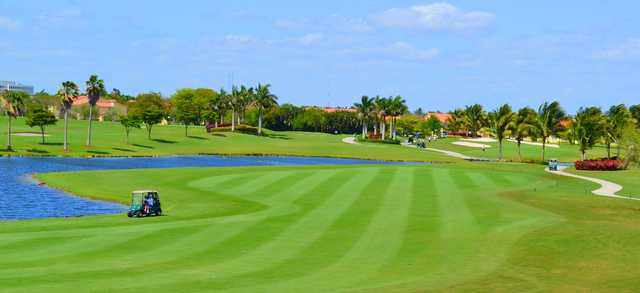 A view of a fairway at Lago Mar Country Club.